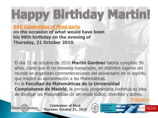 Happy Birthday  Martin!
