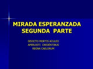 MIRADA ESPERANZADA SEGUNDA  PARTE
