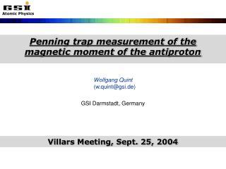 Wolfgang Quint    (w.quint@gsi.de)