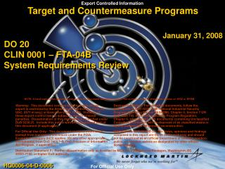 Target and Countermeasure Programs