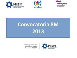 Convocatoria 8M  2013