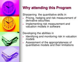 Why attending this Program