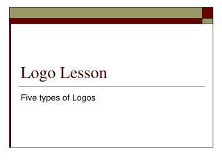 Logo Lesson