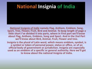 National  Insignia of India