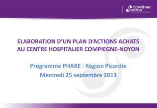 ELABORATION D'UN PLAN D'ACTIONS ACHATS AU CENTRE HOSPITALIER COMPIEGNE-NOYON