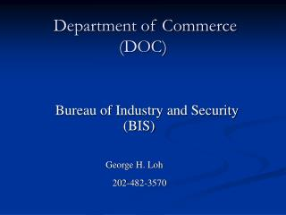 Department of Commerce DOC