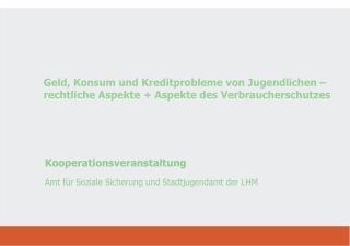 Kooperationsveranstaltung Amt für Soziale Sicherung und Stadtjugendamt der LHM