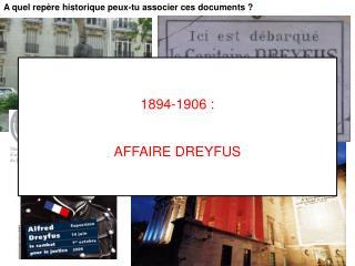 A quel repère historique peux-tu associer ces documents?