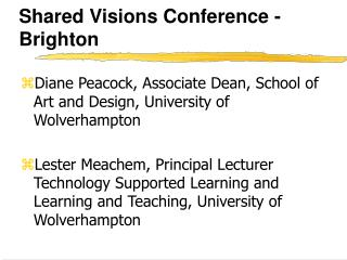 Shared Visions Conference -Brighton