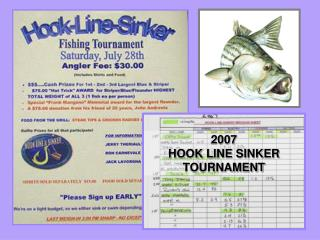 2007  HOOK LINE SINKER TOURNAMENT