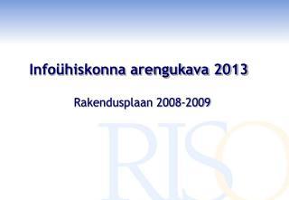 Info�hiskonna arengukava 2013