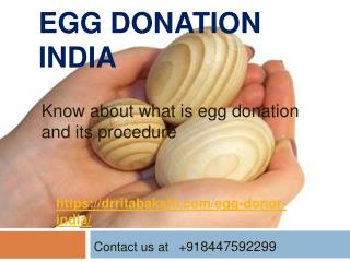 Dr RitaBakshi.com is an address of the  best egg donation cl
