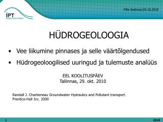 H ÜDROGEOLOOGIA