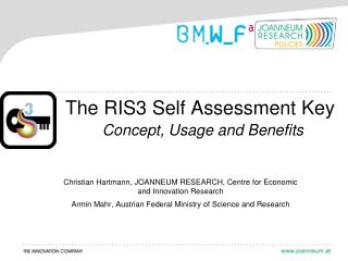 The RIS3 Self Assessment Key Concept, Usage and Benefits