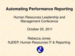 Rebecca Jones NJDEP, Human Resources IT & Reporting