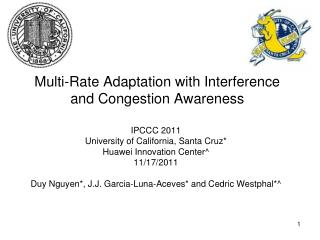 Multi-Rate Adaptation with Interference and Congestion Awareness