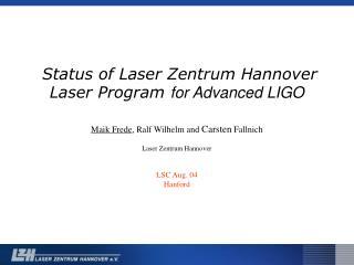 High-Power Laser setup