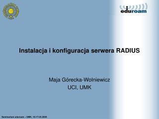 Instalacja i konfiguracja serwera RADIUS