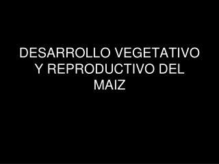 DESARROLLO VEGETATIVO Y REPRODUCTIVO DEL MAIZ