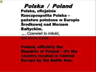 Polska  /  Poland