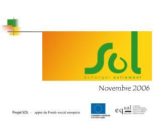 Projet SOL   –   appui du Fonds social européen