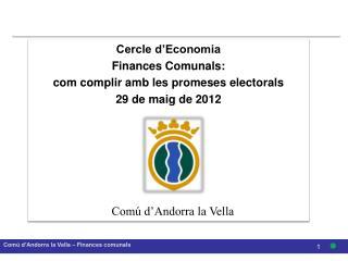 Comú d'Andorra la Vella – Finances comunals