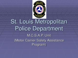 St. Louis Metropolitan Police Department