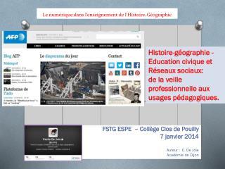 Le numérique dans l'enseignement de l'Histoire-Géographie