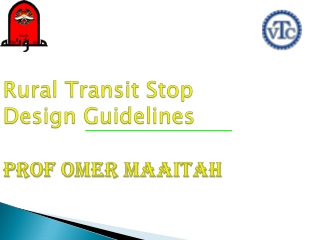 Rural Transit Stop Design Guidelines