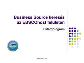 Business Source keresés  az EBSCOhost  felületen