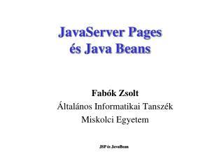 JavaServer Pages és Java Beans