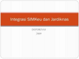Integrasi SIMKeu dan Jardiknas