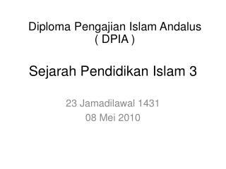 Sejarah Pendidikan Islam 3