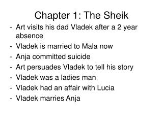 Chapter 1: The Sheik