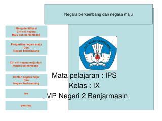 Mata pelajaran : IPS Kelas : IX SMP Negeri 2 Banjarmasin