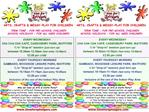 Themed Weekly Activities