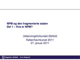 NPM og den fragmenterte staten Del 1 – Hva er NPM?