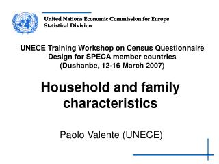 Household and family characteristics