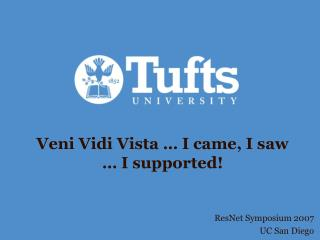 Veni Vidi Vista … I came, I saw  … I supported!