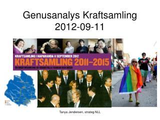 Genusanalys Kraftsamling 2012-09-11