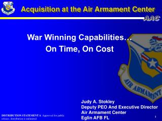 Acquisition at the Air Armament Center