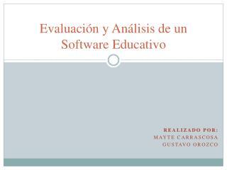 Evaluación y Análisis de un Software Educativo