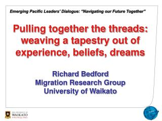 Emerging Pacific Leaders� Dialogue: �Navigating our Future Together�