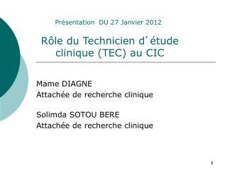 Mame DIAGNE Attachée de recherche clinique Solimda SOTOU BERE Attachée de recherche clinique