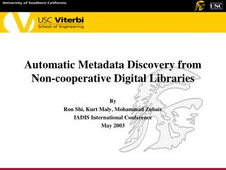 Automatic Metadata Discovery from Non-cooperative Digital Libraries