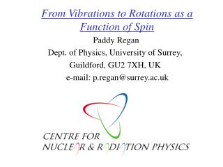 From Vibrations to Rotations as a Function of Spin