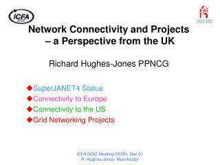 Network Connectivity and Projects   – a Perspective from the UK Richard Hughes-Jones PPNCG