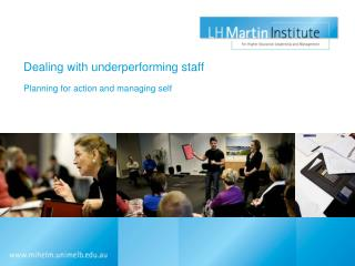 Dealing with underperforming staff
