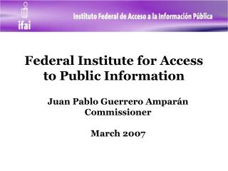 Federal Institute for Access to Public Information