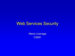 Web Services Security